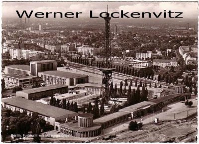Ansichtskarte Berlin Funkturm mit Messegelände