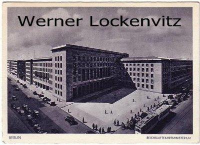 Ansichtskarte Berlin Reichsluftfahrtministerium mit Straßenbahn