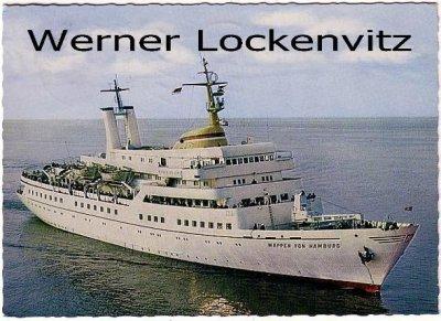 Postcard Germany Wappen von Hamburg tourist steamer