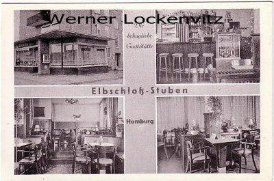 Ansichtskarte Hamburg-Wandsbek Elbschloß-Stuben Wandsb. Chaussee mehrfach Inh. Walter und Paula Freitag Innen-und Außenansichten