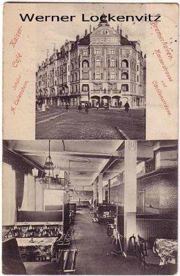 Ansichtskarte Bremerhaven Kaiser-Cafe Kaiserstrasse und Cäcilienstrasse
