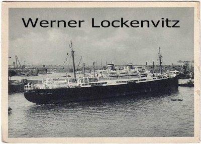 Ansichtskarte Motorschiff General Osorio Hamburg-Süd