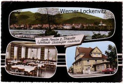 Ansichtskarte Bad Säckingen-Wallbach Gasthof Pension zur Traube