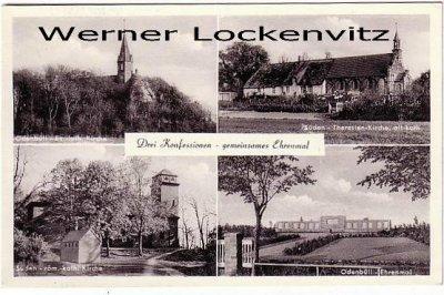 Ansichtskarte Nordstrand Drei Konfessionen Odenbüll Kirchen und Ehrenmal