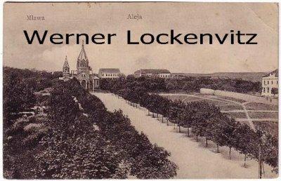Ansichtskarte Polen Mlawa Mielau Aleja Kirche