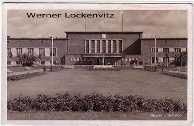 Ansichtskarte Polen Schlesien Glogau Głogów Bahnhof