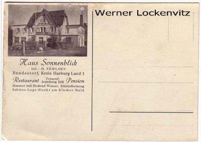 Ansichtskarte Bendestorf Kreis Harburg Haus Sonnenblick Inh. H. Nehlsen