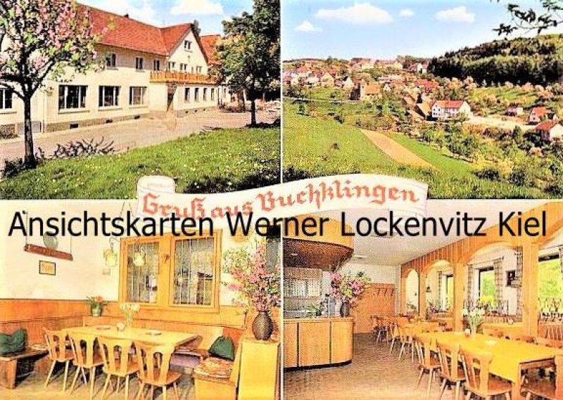 Ansichtskarte Birkenau-Buchklingen im Odenwald Gasthaus Grüner Baum Bes. A. Arnold mehrfach