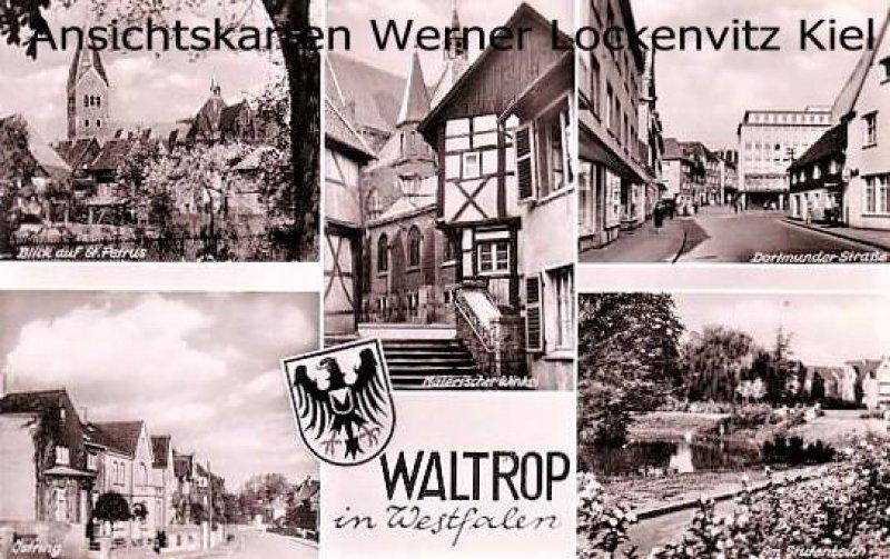 Ansichtskarte Waltrop in Westfalen mehrfach Ostring Dortmunder Straße