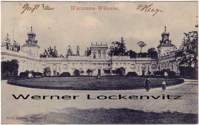 Ansichtskarte Polen Warschau Warszawa Schloss