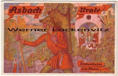 Ansichtskarte Rüdesheim am Rhein Asbach-Uralt Werbekarte