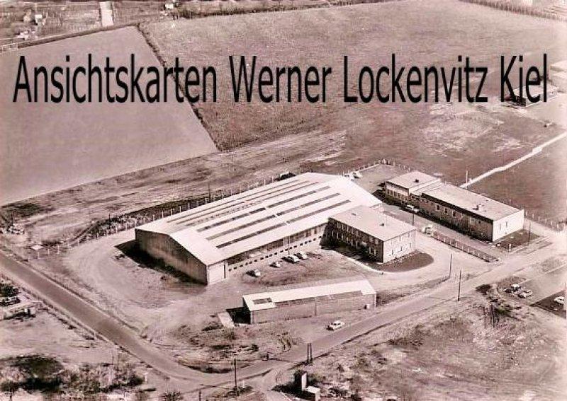 Ansichtskarte Rendsburg Eisenlager der Firma Heinrich Tönsfeld Luftbild