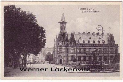 Ansichtskarte Rendsburg Kaiserliches Postamt