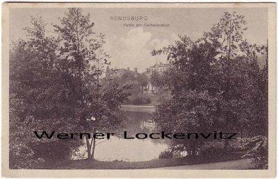 Ansichtskarte Rendsburg Gerhardsteich