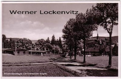 Ansichtskarte Reichsarbeitsdienstlager Cämmerswalde in Sachsen RAD mit Kirche