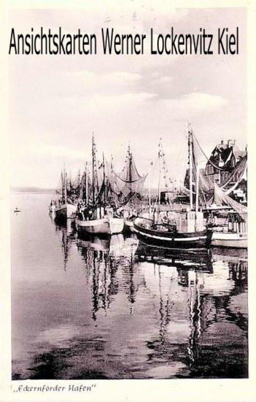 Ansichtskarte Eckernförde Hafen Fischkutter