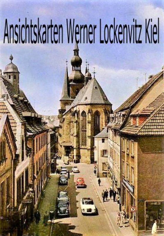 Ansichtskarte St. Wendel Balduinstraße mit St. Wendalinus-Basilika