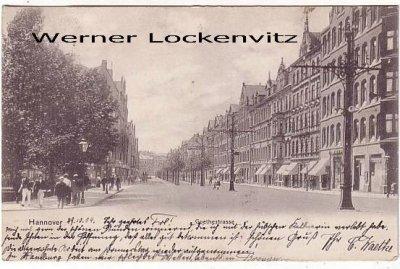 Ansichtskarte Hannover Goethestrasse