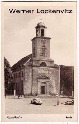 Ansichtskarte Husum Kirche mit Brezelkäfer