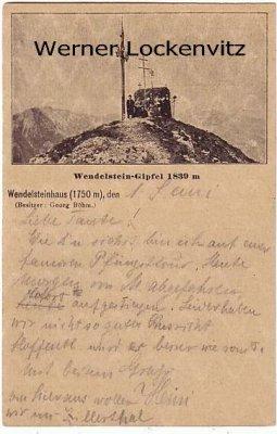 Ansichtskarte Brannenburg Bayrischzell Wendelstein-Gipfel mit Wendelsteinhaus Besitzer Georg Böhm Ganzsache 1895