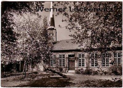 Ansichtskarte Lübeck Reformierte Kirche Garten mit Gartenflügel