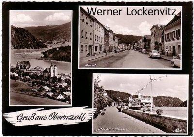 Ansichtskarte Obernzell mehrfach Panorama Markt Uferpromenade
