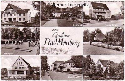 Ansichtskarte Bad Meinberg Kleingolf Parkbad Sternbad Haus Hildegard Haus Stork Haus Condor