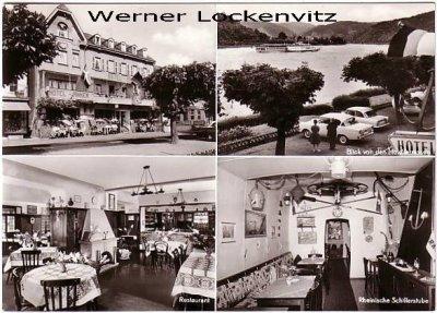 Ansichtskarte Kamp-Bornhofen Hotel Anker Bes. Fam. Dietrich-Schuck-Eriksen mehrfach Außen-und Innenansichten