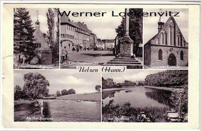 Ansichtskarte Uelzen Kapelle Lüneburgerstraße Ratsteich