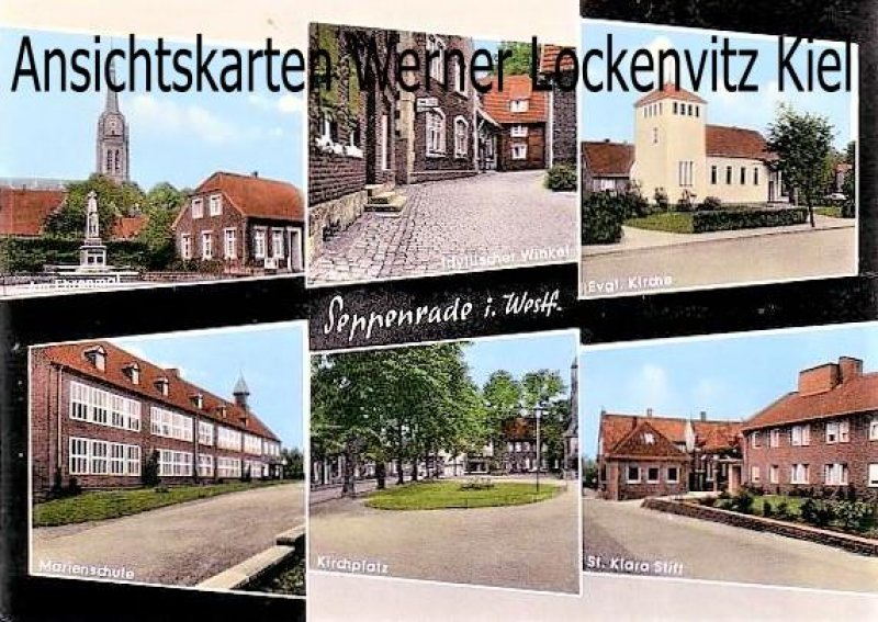Ansichtskarte Seppenrade Marienschule Ehrenmal Kirchplatz