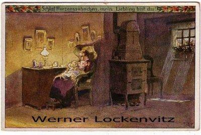 Ansichtskarte Künstlerkarte Paul Hey Schlaf Herzenssöhnchen Nr. 50