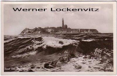 Ansichtskarte Insel Oie Helgoland der Ostsee mit Leuchtturm