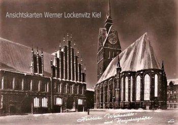 Ansichtskarte Hannover Herzliche Weihnachtsgrüße-und Neujahrsgrüße