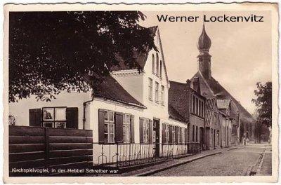 Ansichtskarte Wesselburen Geburtsstadt Hebbels Kirchspielvogtei in der Hebbel Schreiber war