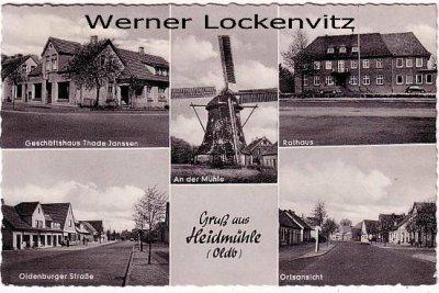 Ansichtskarte Schortens-Heidmühle Mühle Oldenburger Straße