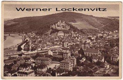 Ansichtskarte Wertheim am Main Panorama Ortsansicht vom Wartberg aus gesehen