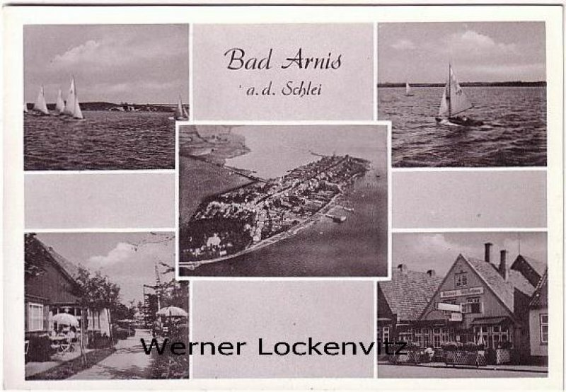 Ansichtskarte Bad Arnis an der Schlei Arnisser Schifferhaus Luftbild