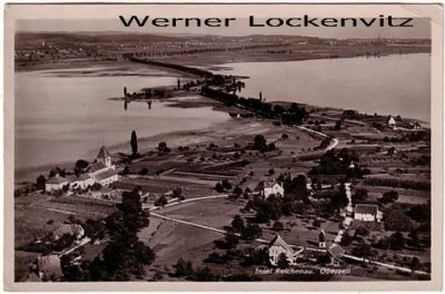Ansichtskarte Insel Reichenau Oberzell Panorama Luftbild
