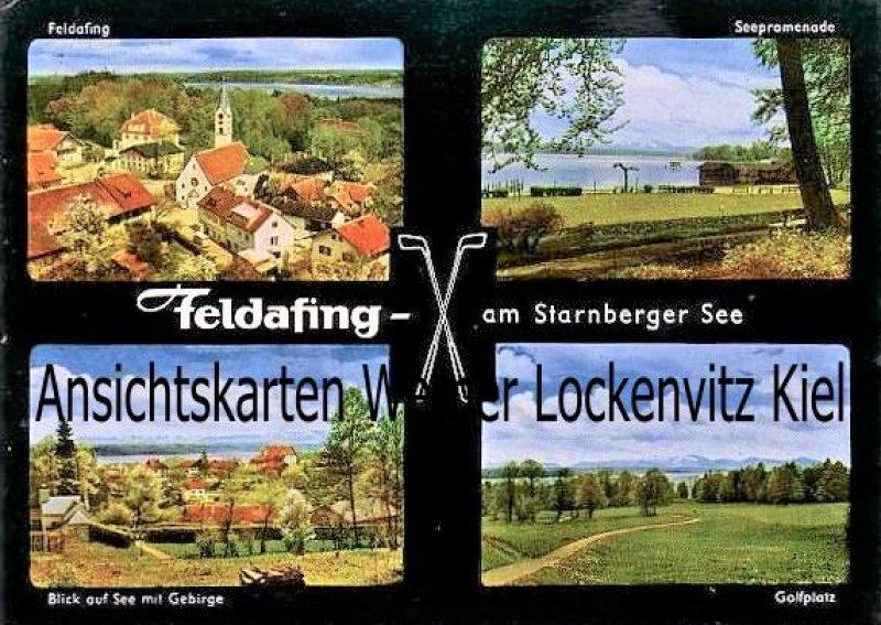 Ansichtskarte Feldafing am Starnberger See Ortsansichten See Golfplatz