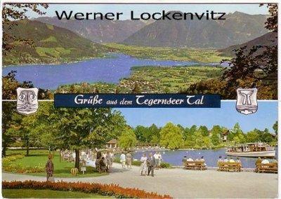 Ansichtskarte Grüße aus dem Tegernseer Tal mehrfach  Panorama See Promenade