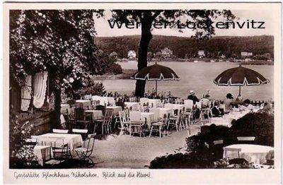 Ansichtskarte Berlin-Wannsee Nikolskoe Gaststätte Blockhaus