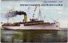 Ansichtskarte Passagierschiff Salon-Schnelldampfer Hertha Schiffspoststempel