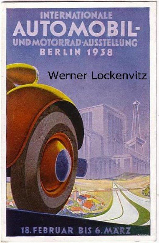 Ansichtskarte Berlin Internationale Automobil-und Motorrad-Ausstellung mit Sonderstempel