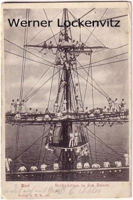 Ansichtskarte Kiel Seekadetten in den Rahen