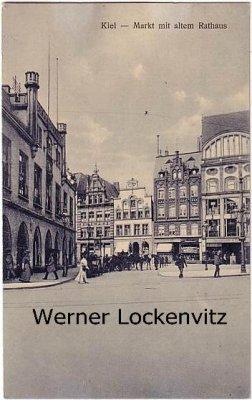 Ansichtskarte Kiel Altes Rathaus am Markt