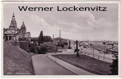 Ansichtskarte Polen Pommern Stettin Szczecin Hakenterrasse