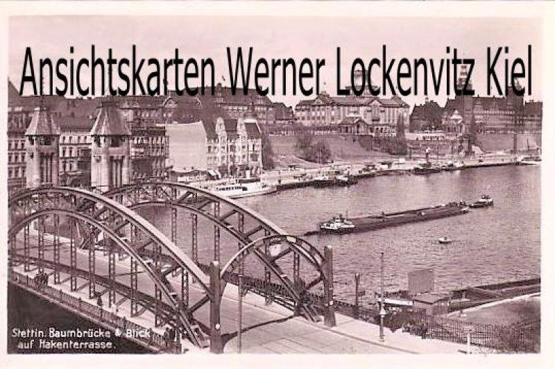 Ansichtskarte Polen Pommern Stettin Szczecin Baumbrücke
