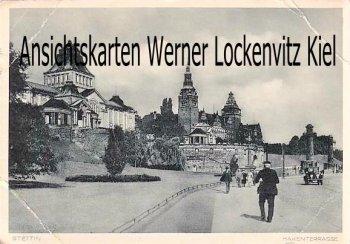 Ansichtskarte Hakenterrasse in Stettin Szczecin