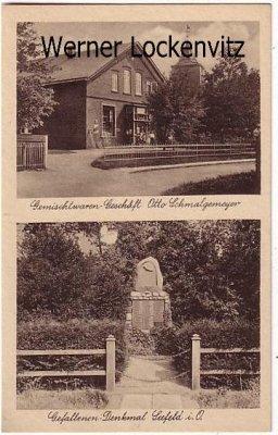 Ansichtskarte Stadland Seefeld Geschäft von Otto Schmalgemeyer mehrfach