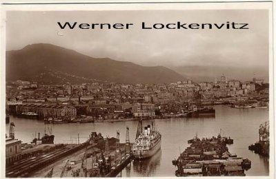 Ansichtskarte Cartolina Postale Italien Italia Genua Genova Panorama da S. Benigno